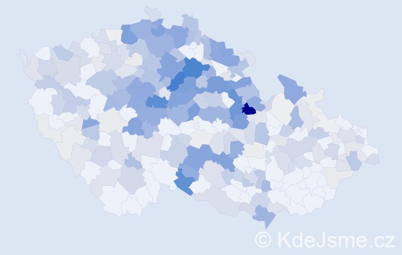 Příjmení: 'Javůrek', počet výskytů 1373 v celé ČR