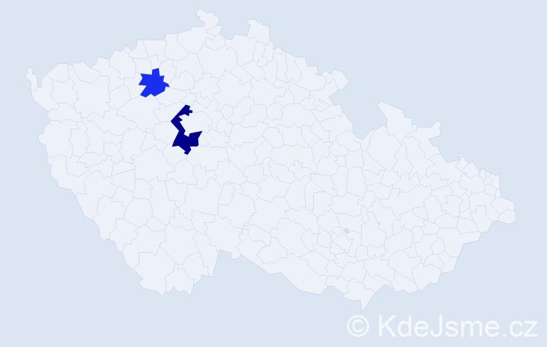 Příjmení: 'Labačová', počet výskytů 4 v celé ČR