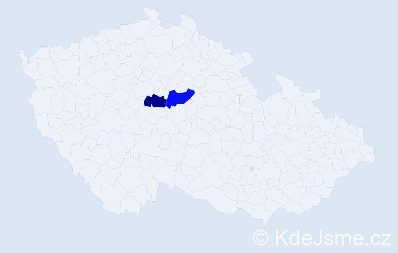 Příjmení: 'Keeler', počet výskytů 4 v celé ČR