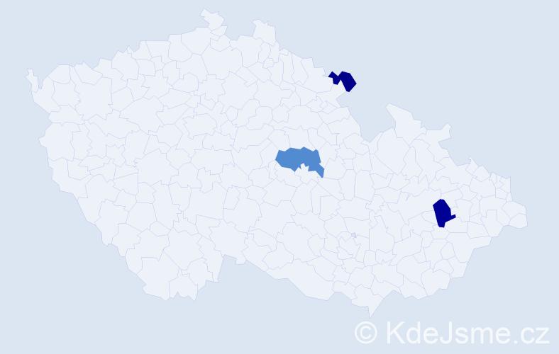 Příjmení: 'Kosarová', počet výskytů 5 v celé ČR