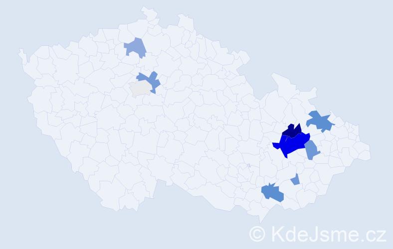 Příjmení: 'Jarma', počet výskytů 21 v celé ČR