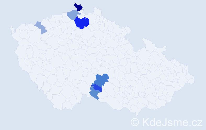 Příjmení: 'Chňapková', počet výskytů 20 v celé ČR