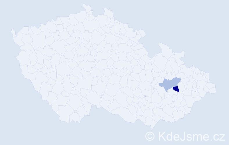 Příjmení: 'Babczinská', počet výskytů 2 v celé ČR