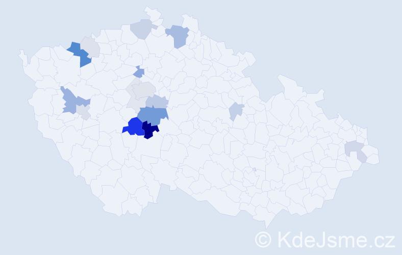 Příjmení: 'Budák', počet výskytů 51 v celé ČR