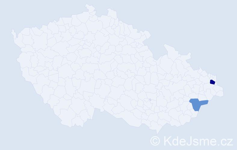 Příjmení: 'Kulifayová', počet výskytů 4 v celé ČR