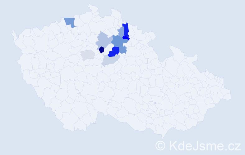 Příjmení: 'Borde', počet výskytů 32 v celé ČR