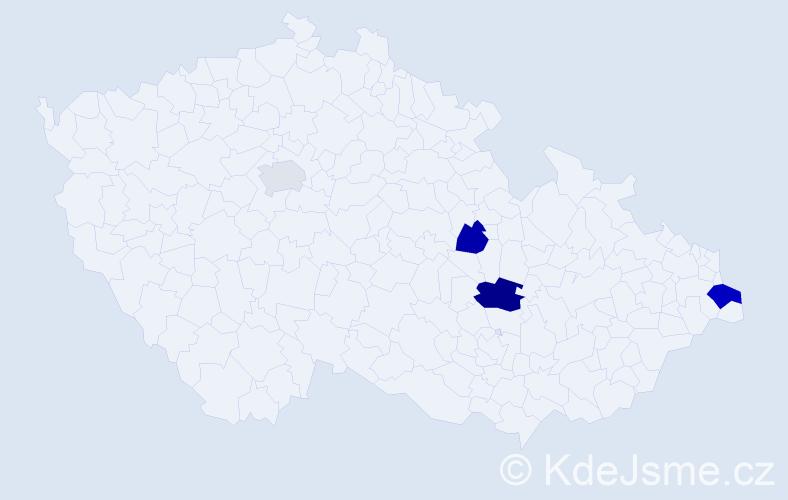 Příjmení: 'Keral', počet výskytů 6 v celé ČR