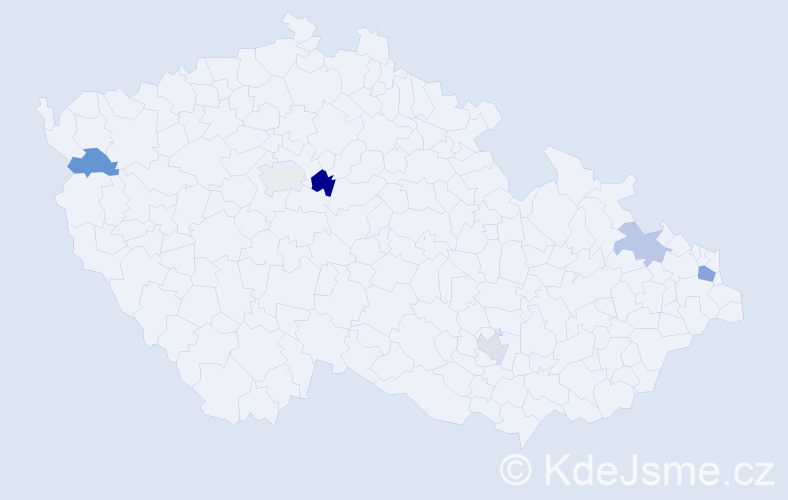 Příjmení: 'Jurč', počet výskytů 8 v celé ČR