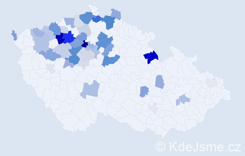 Příjmení: 'Gruncl', počet výskytů 116 v celé ČR