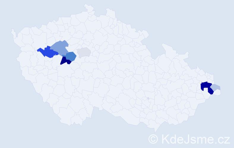 Příjmení: 'Eschner', počet výskytů 29 v celé ČR