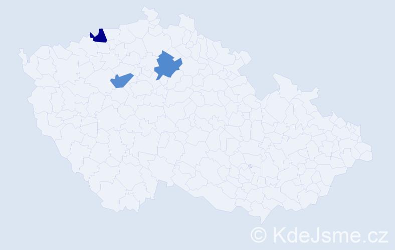 Příjmení: 'Federhansová', počet výskytů 3 v celé ČR