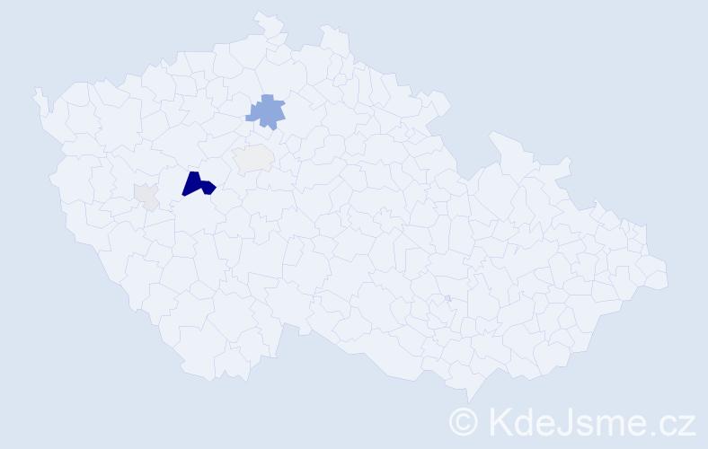Příjmení: 'Crková', počet výskytů 16 v celé ČR