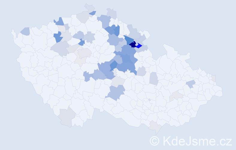 Příjmení: 'Flégr', počet výskytů 173 v celé ČR