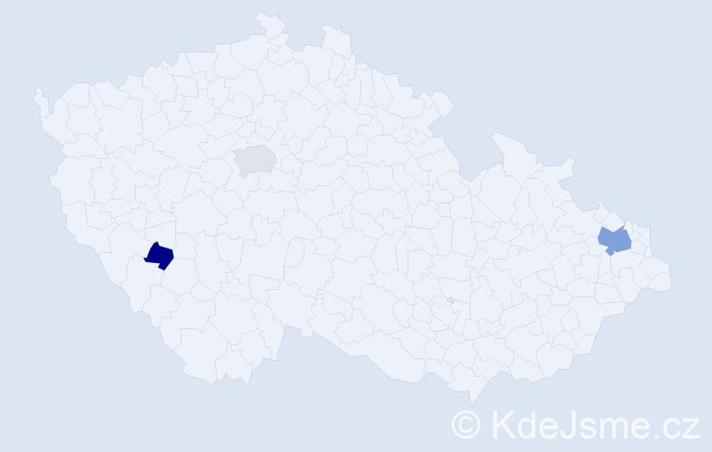 Příjmení: 'Duhanová', počet výskytů 15 v celé ČR
