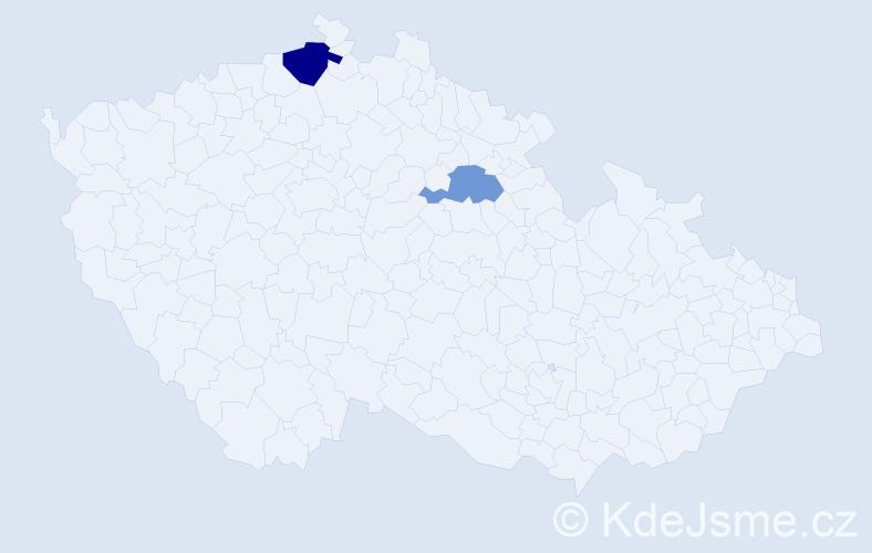 Příjmení: 'Bures', počet výskytů 3 v celé ČR