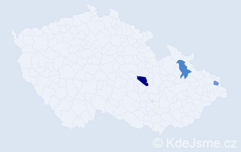 Příjmení: 'Halgoš', počet výskytů 7 v celé ČR