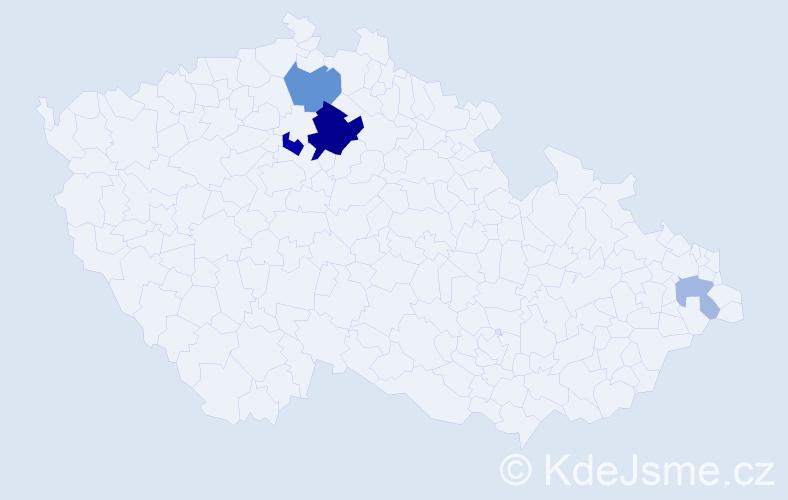 Příjmení: 'Ďurfinová', počet výskytů 11 v celé ČR