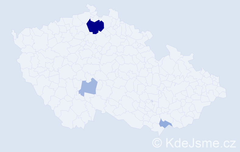 Příjmení: 'Čeriová', počet výskytů 8 v celé ČR