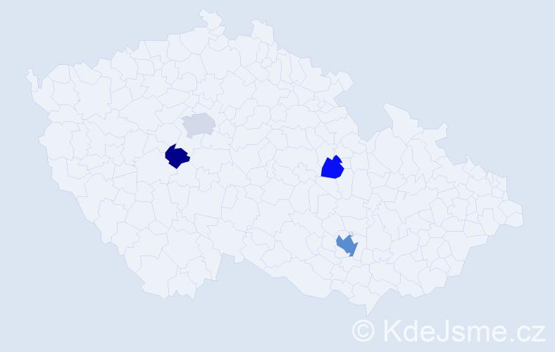 Příjmení: 'Gratz', počet výskytů 9 v celé ČR