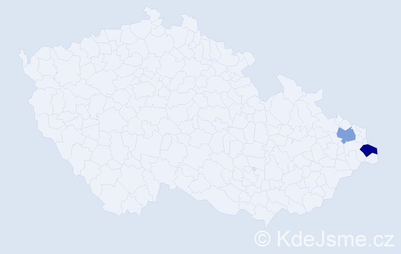 Příjmení: 'Baeva', počet výskytů 2 v celé ČR