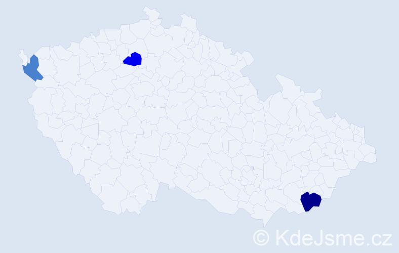 Příjmení: 'Čopko', počet výskytů 4 v celé ČR