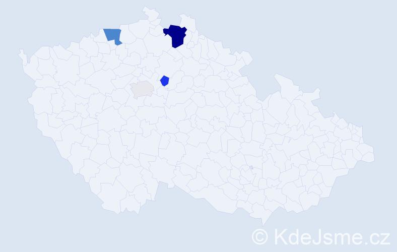 Příjmení: 'Burdys', počet výskytů 12 v celé ČR