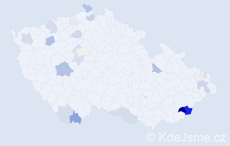 Příjmení: 'Greschnerová', počet výskytů 46 v celé ČR