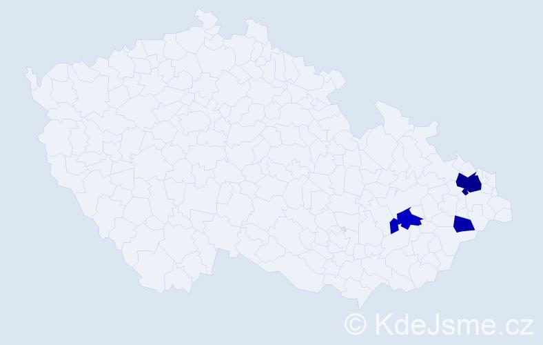 Příjmení: 'Heryan', počet výskytů 9 v celé ČR