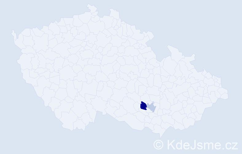Příjmení: 'Boriček', počet výskytů 2 v celé ČR