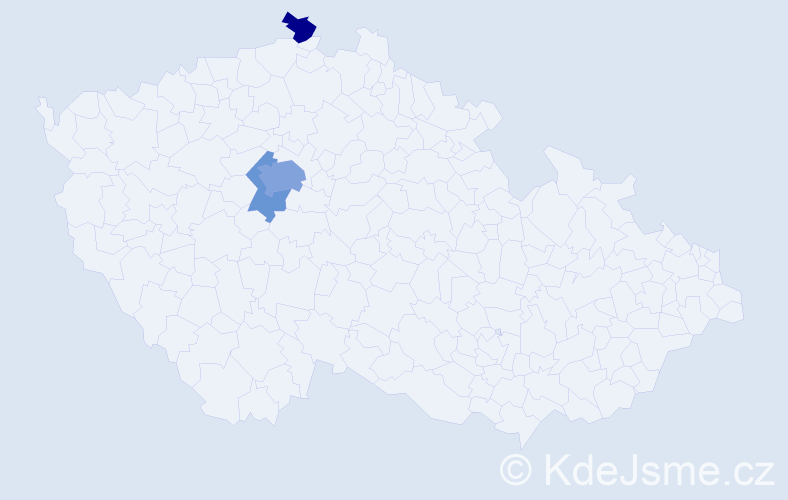 Příjmení: 'Jalloul', počet výskytů 7 v celé ČR