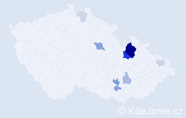 Příjmení: 'Drásal', počet výskytů 29 v celé ČR