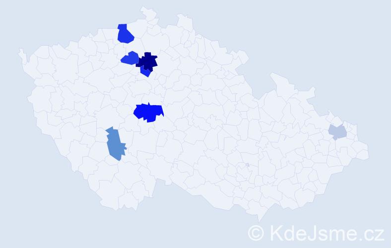 Příjmení: 'Ilašová', počet výskytů 11 v celé ČR