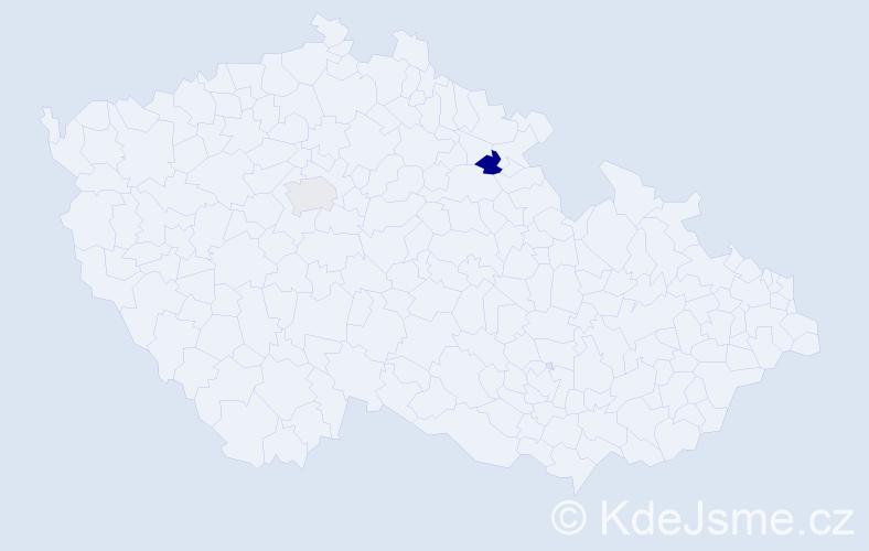 Příjmení: 'Bovkunová', počet výskytů 5 v celé ČR