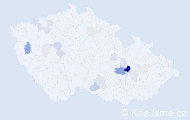 Příjmení: 'Eyerová', počet výskytů 49 v celé ČR
