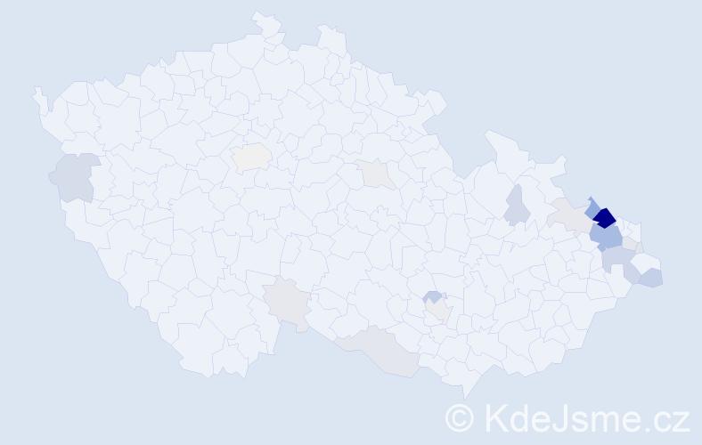 Příjmení: 'Lampart', počet výskytů 100 v celé ČR