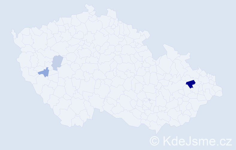 Příjmení: 'Baninec', počet výskytů 6 v celé ČR