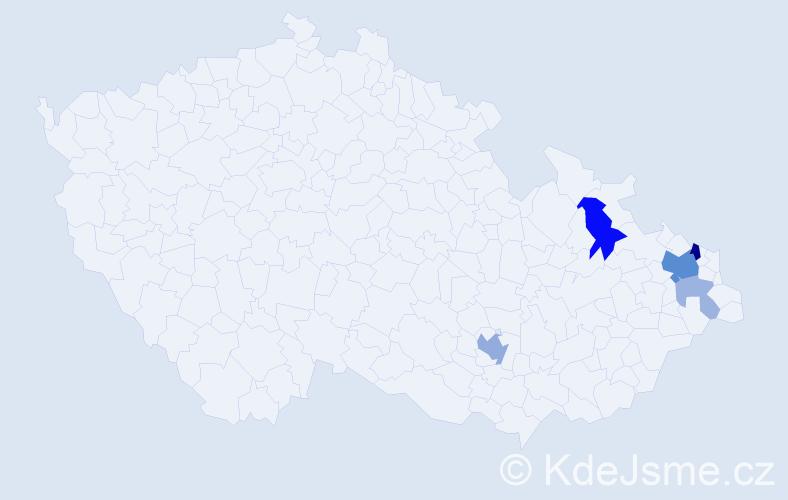 Příjmení: 'Goněc', počet výskytů 14 v celé ČR