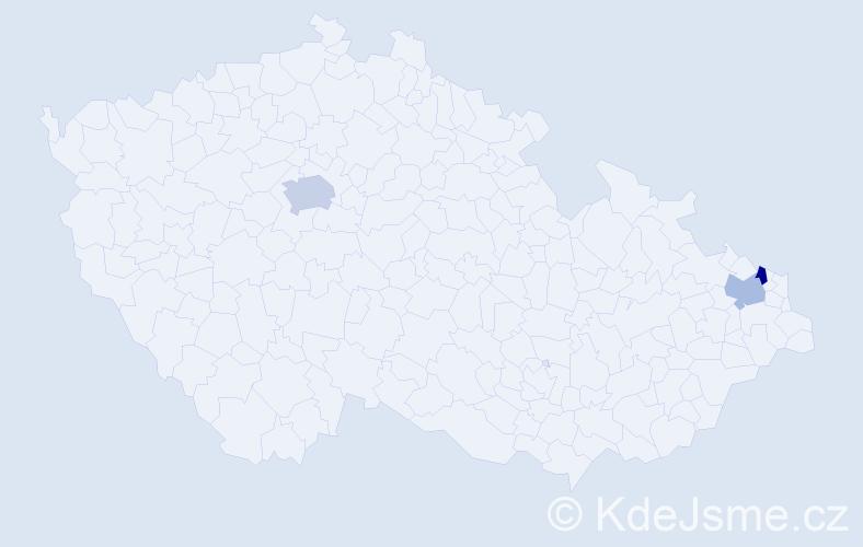 Příjmení: 'Gerloch', počet výskytů 4 v celé ČR