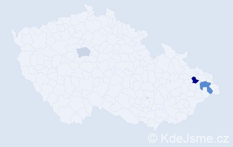 Příjmení: 'Jarčík', počet výskytů 9 v celé ČR
