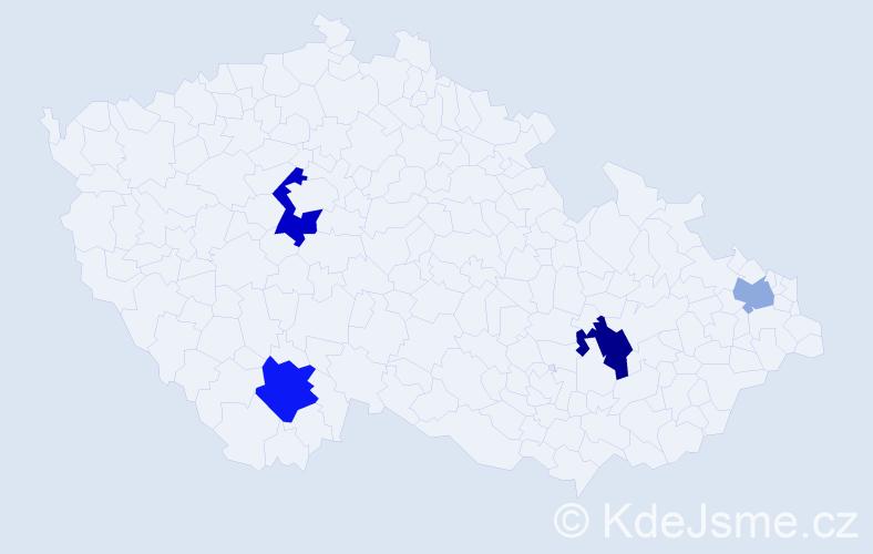 Příjmení: 'Čakanová', počet výskytů 7 v celé ČR