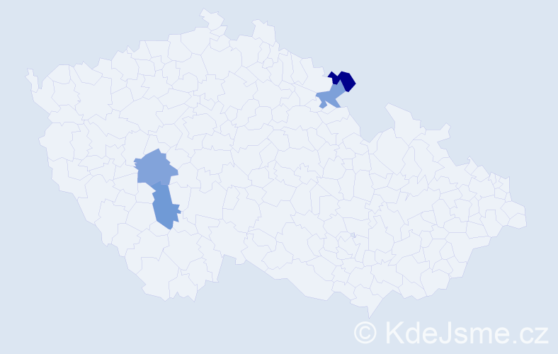 Příjmení: 'Jaríčková', počet výskytů 4 v celé ČR