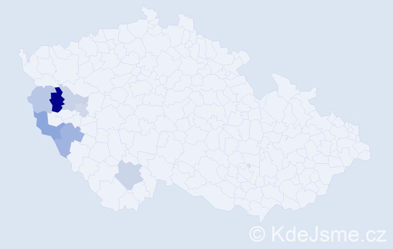 Příjmení: 'Čepičanová', počet výskytů 14 v celé ČR