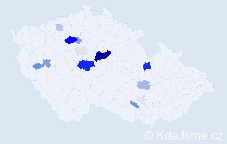 Příjmení: 'Černušáková', počet výskytů 33 v celé ČR