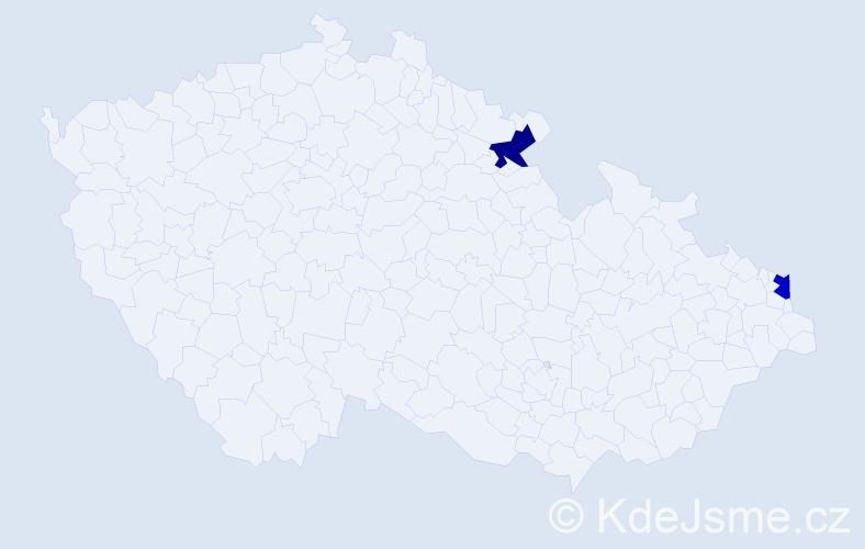 Příjmení: 'Grabowska', počet výskytů 2 v celé ČR