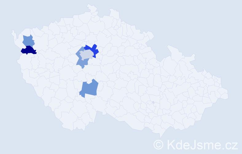 Příjmení: 'Iľko', počet výskytů 8 v celé ČR