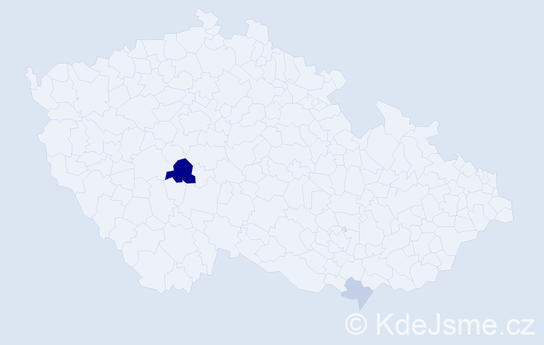Příjmení: 'Ivey', počet výskytů 5 v celé ČR