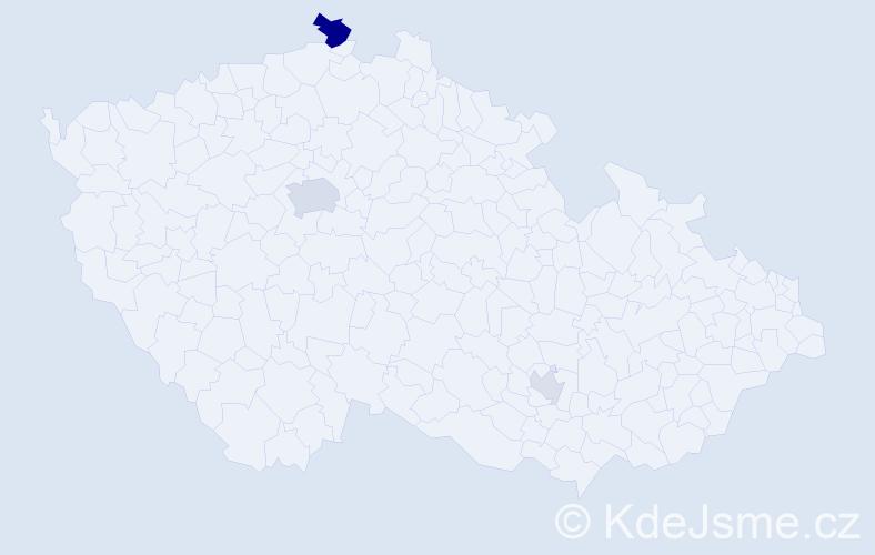 Příjmení: 'Conway', počet výskytů 7 v celé ČR