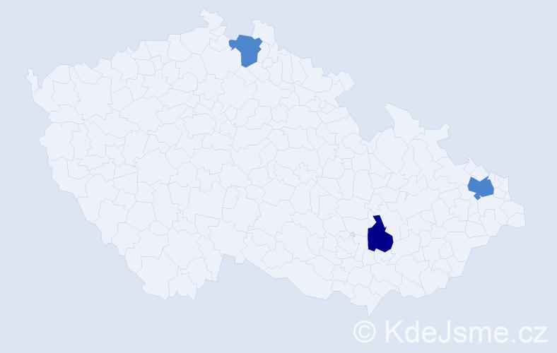 Příjmení: 'Glombík', počet výskytů 4 v celé ČR