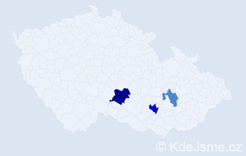 Příjmení: 'Konzbul', počet výskytů 8 v celé ČR