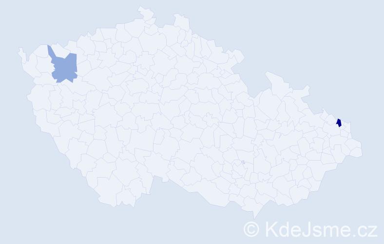 Příjmení: 'Galužná', počet výskytů 3 v celé ČR